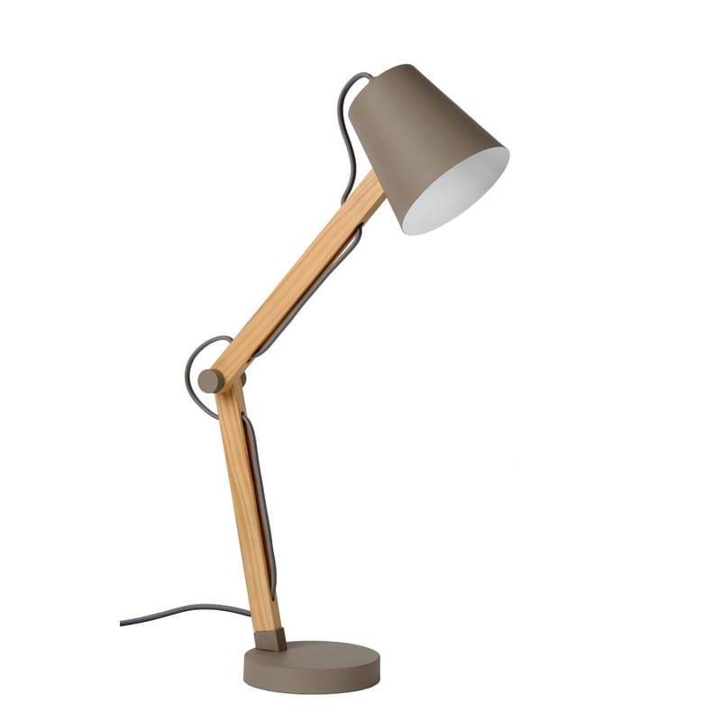 Lampe de bureau orientable en bois Tony – Lucide