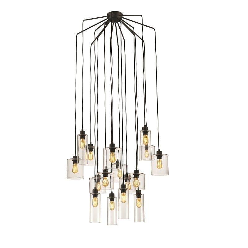 Suspension multiple style industriel Ilo Ilo 16 lumières – Market set