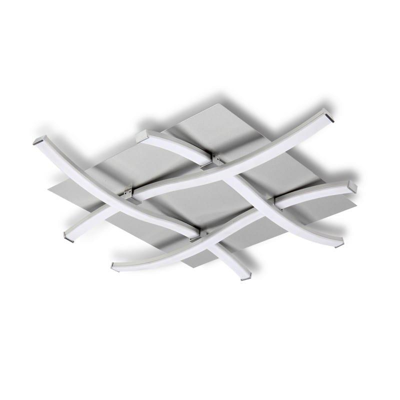 Plafonnier ras de plafond Nur aluminium et chrome