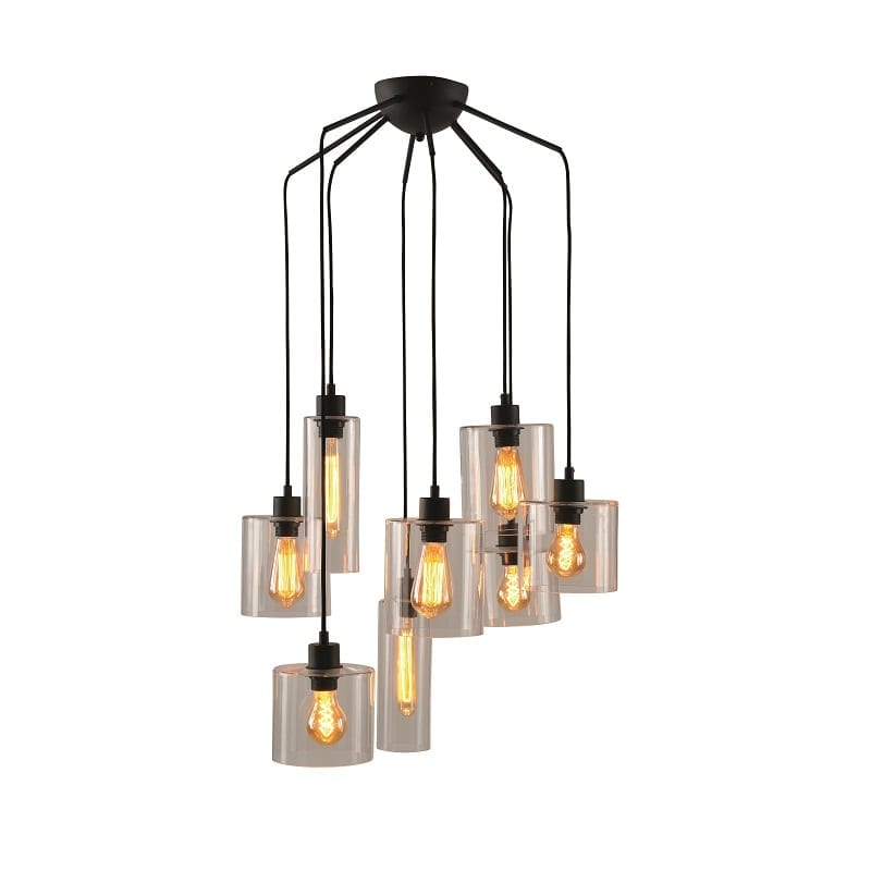Suspension multiple style industriel Ilo Ilo 8 lumières – Market set