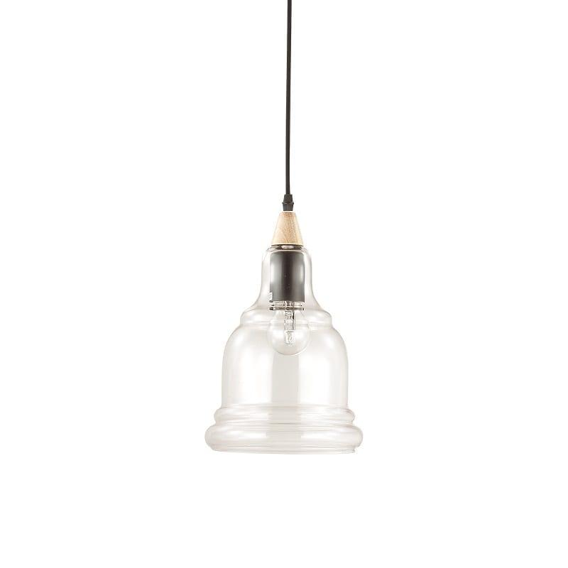 Suspension industrielle en verre Gretel 1 lampe – Idéal lux