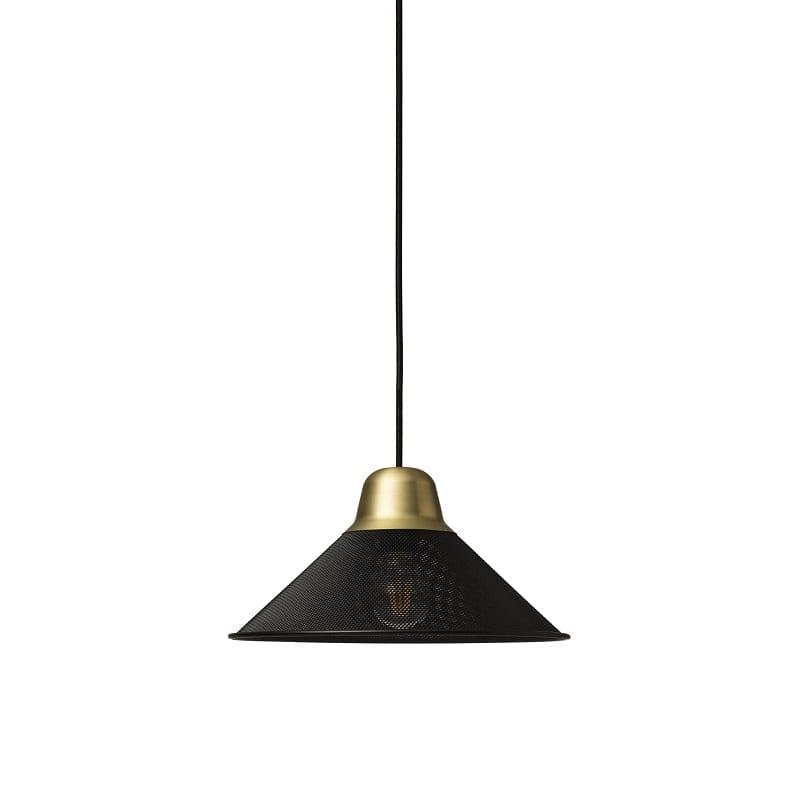 Suspension Petite Friture Aura petit modèle noir et or