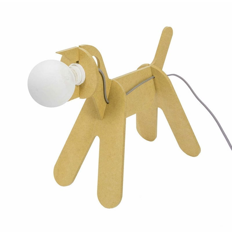 Lampe chien Get out Dogs jaune