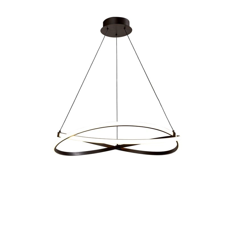 Suspension led cercle Infinity marron foncé 51 cm