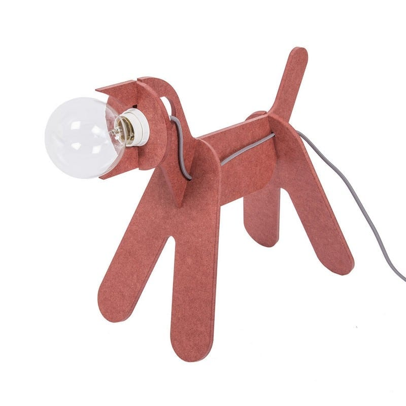 Lampe chien Get out Dogs rouge
