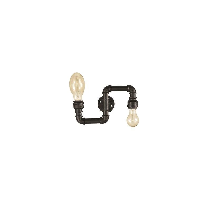 Applique tuyaux noir Plumber 2 lumières – Idéal lux