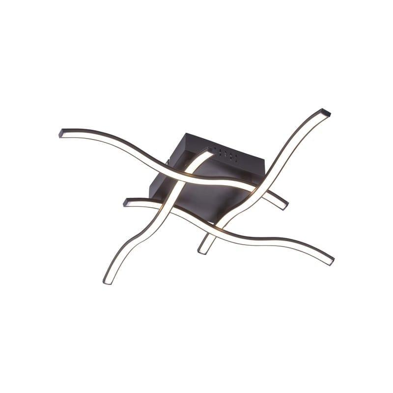 Plafonnier led noir Vague – Leuchten direkt