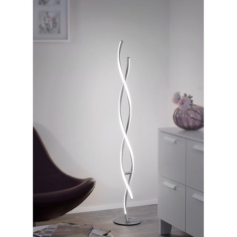 Lampadaire led design acier Polina – Paul Neuhaus