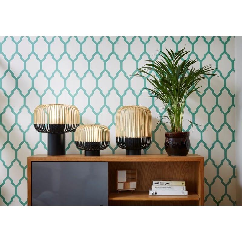 Lampe Bamboo light noire petit modèle ht.24cm – Forestier