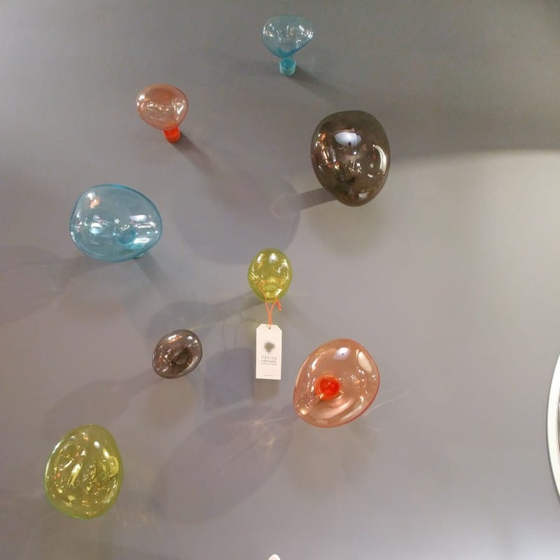 Patère Bubble verre soufflé corail grand modèle – Petite Friture