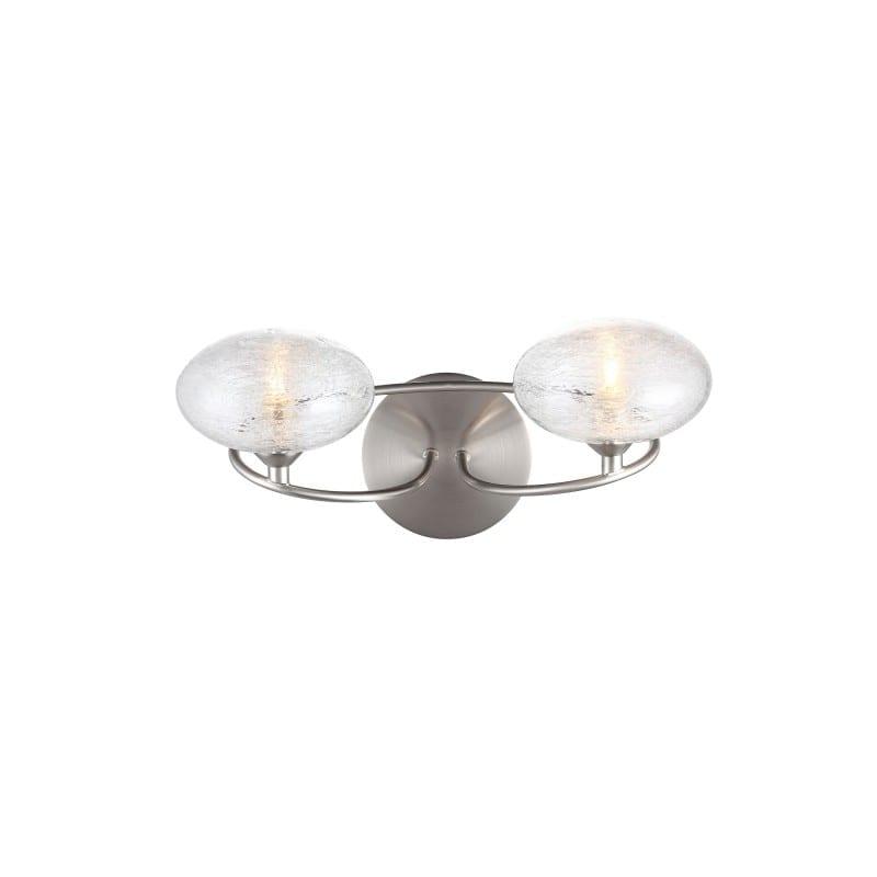 Applique Charme nickel satinée 2 lumières