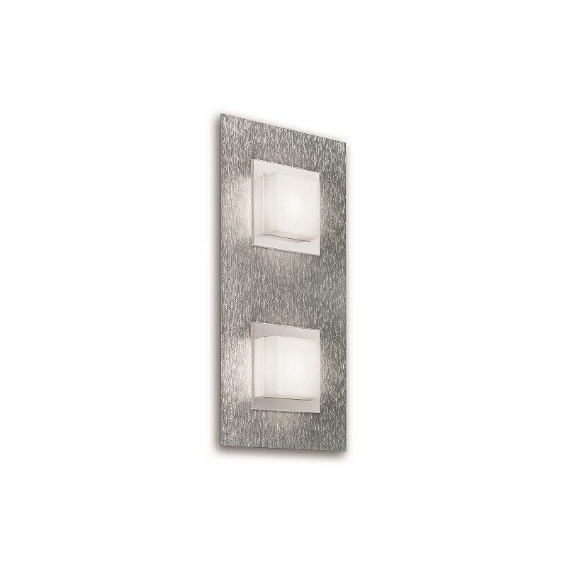 Applique Grossmann led Basic 2 lumières aluminium brossé