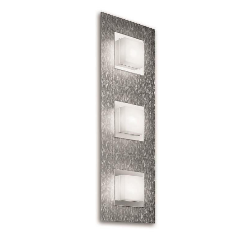 Applique Grossmann led Basic 3 lumières aluminium brossé