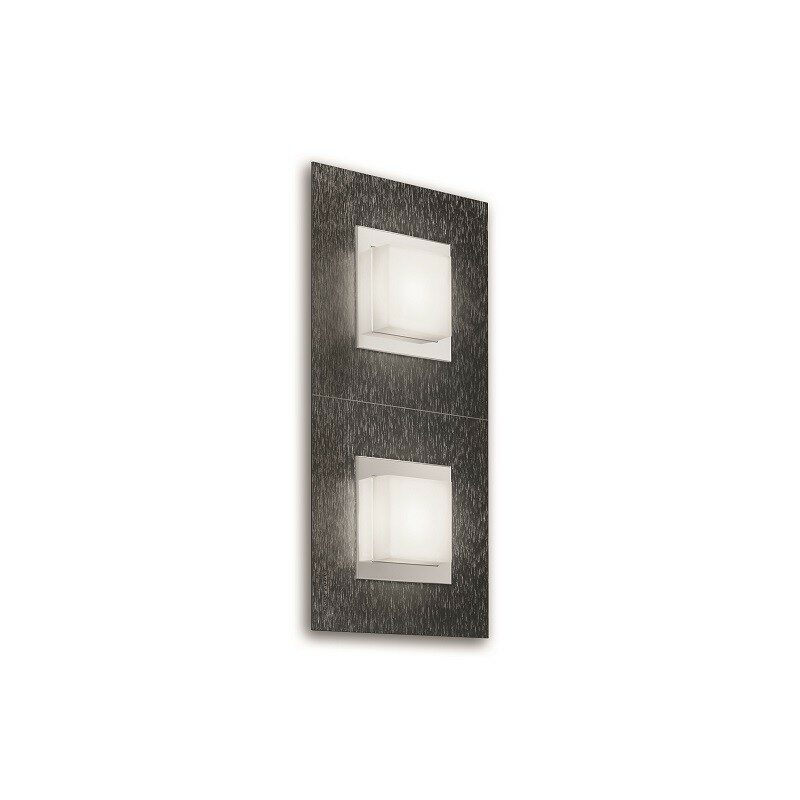 Applique Grossmann led Basic 2 lumières anthracite brossé