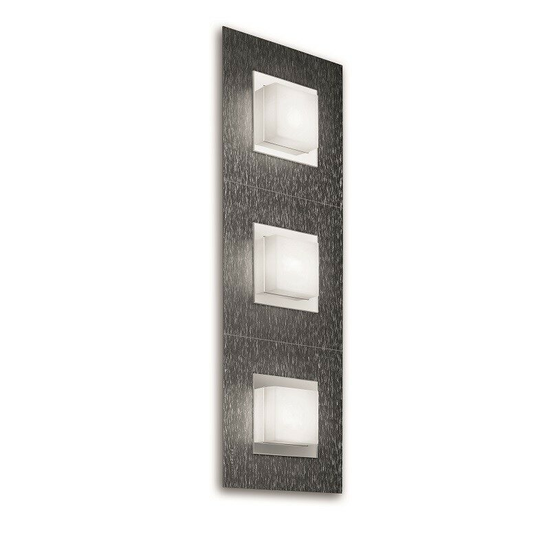 Applique Grossmann led Basic 3 lumières anthracite brossé