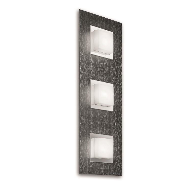 Applique Grossmann led Basic 3 lumières anthracite brossé