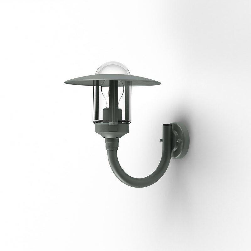 Applique extérieure montante Newpark gris métal verre clair