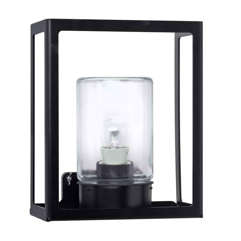 Applique extérieure carrée gris anthracite Hugy verre clair – Roger Pradier®