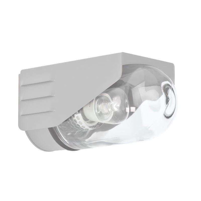 Applique extérieure RP195 gris métal verre clair petit modèle