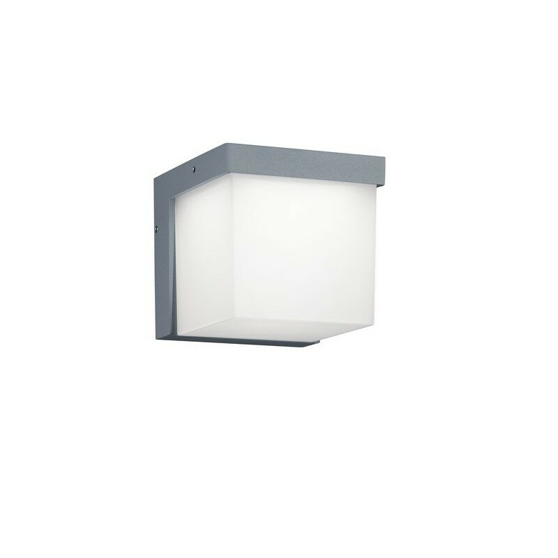 Applique extérieure cube led Yangtze gris clair