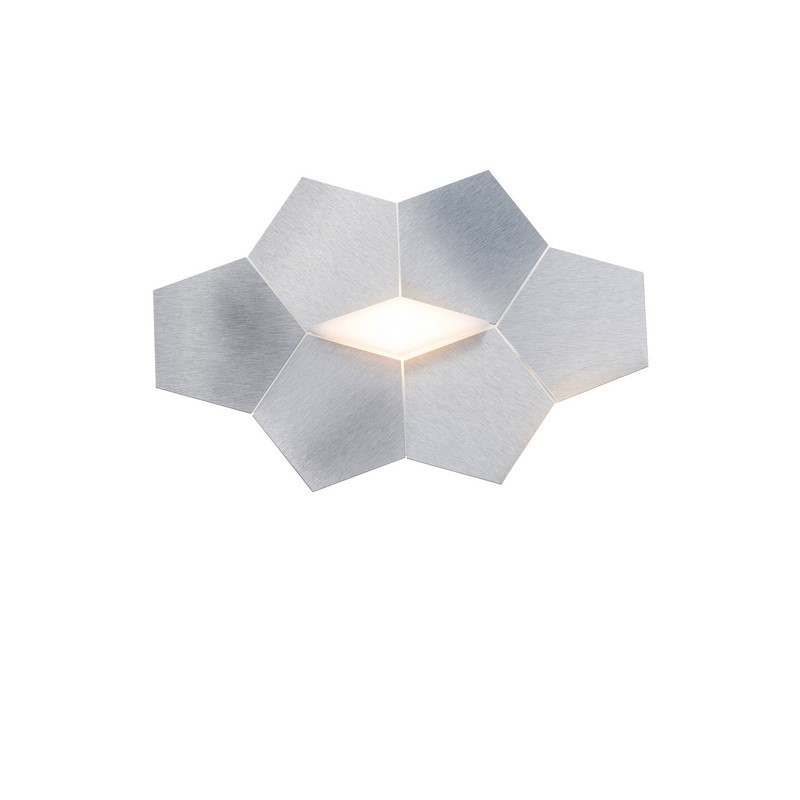 Applique Grossmann LED aluminium brossé 1 lumière Linde