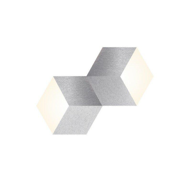Applique grossmann LED aluminium brossé 2 lumières Geo