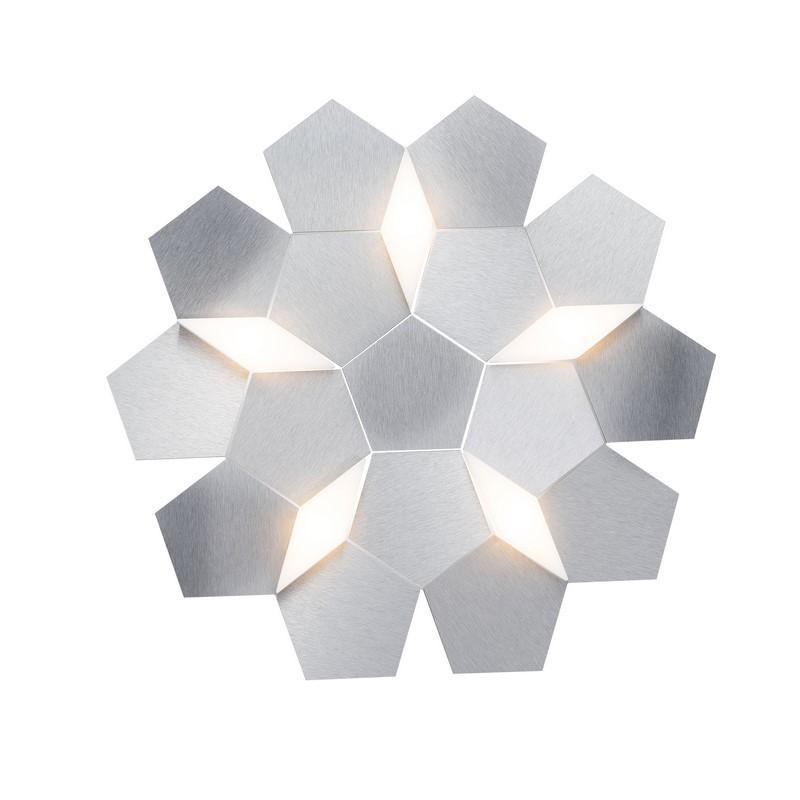 Applique Grossmann LED aluminium brossé 5 lumières Karat