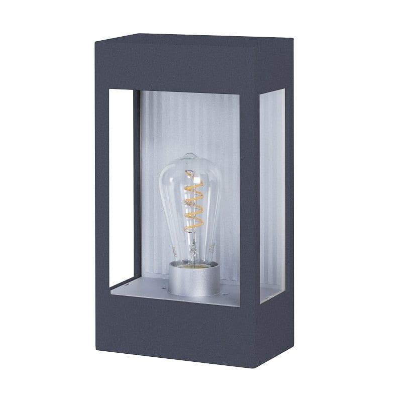 Applique extérieure industrielle Brick² gris anthracite verre clair