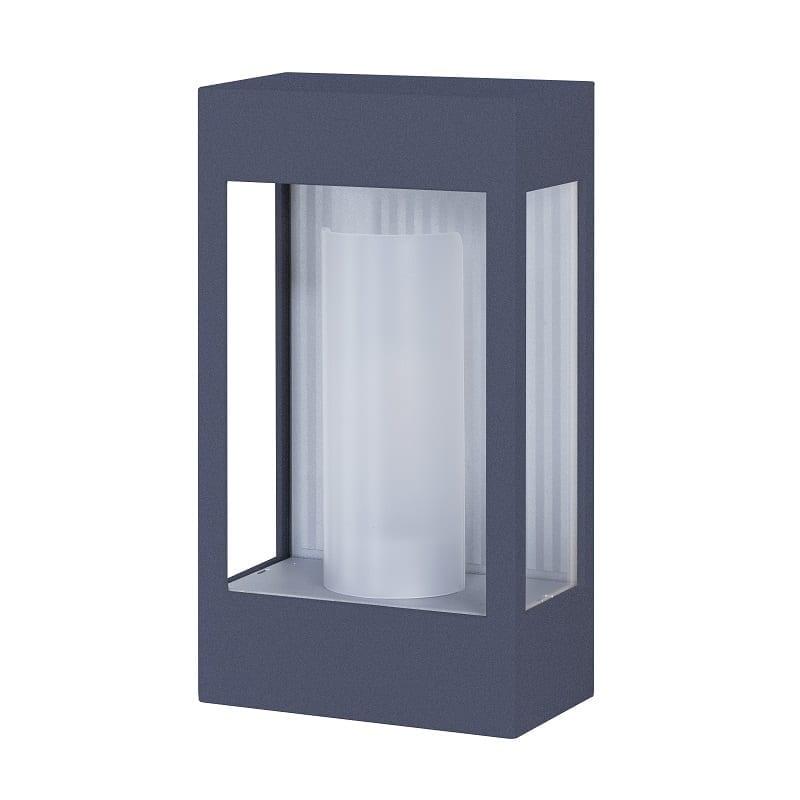 Applique extérieure industrielle Brick² gris ardoise verre clair