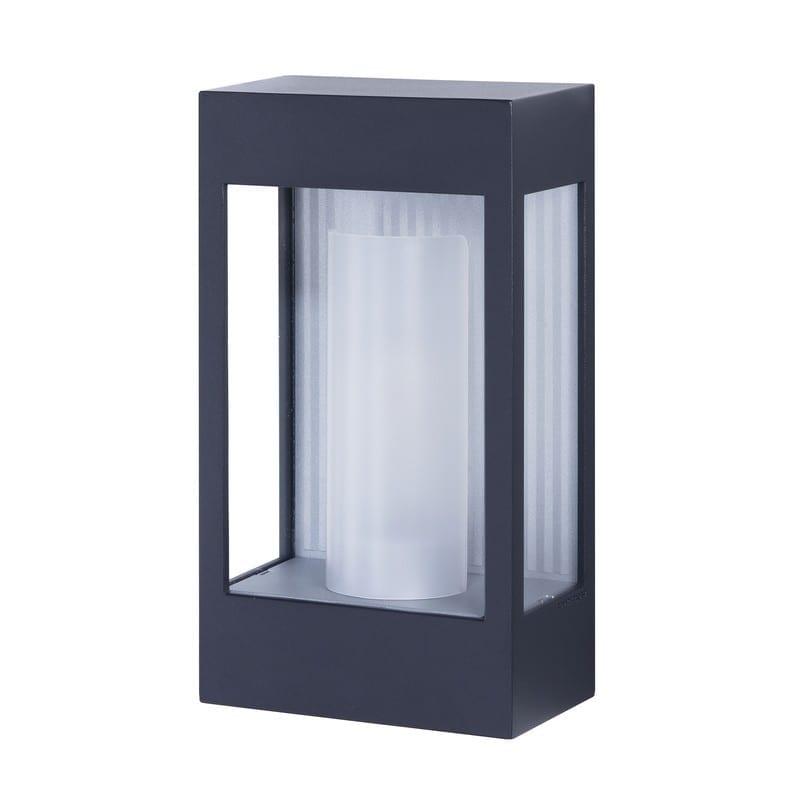 Applique extérieure industrielle Brick² gris noir verre clair