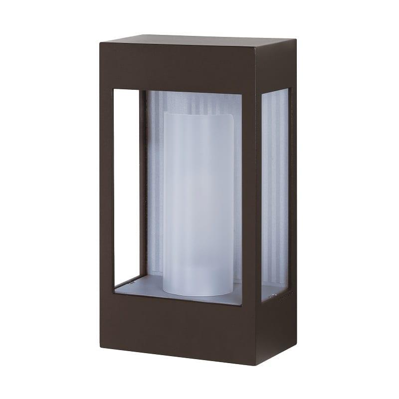 Applique extérieure industrielle Brick² rouille verre clair