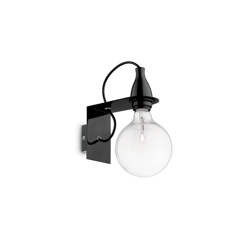 Applique murale ampoule Minimal noire