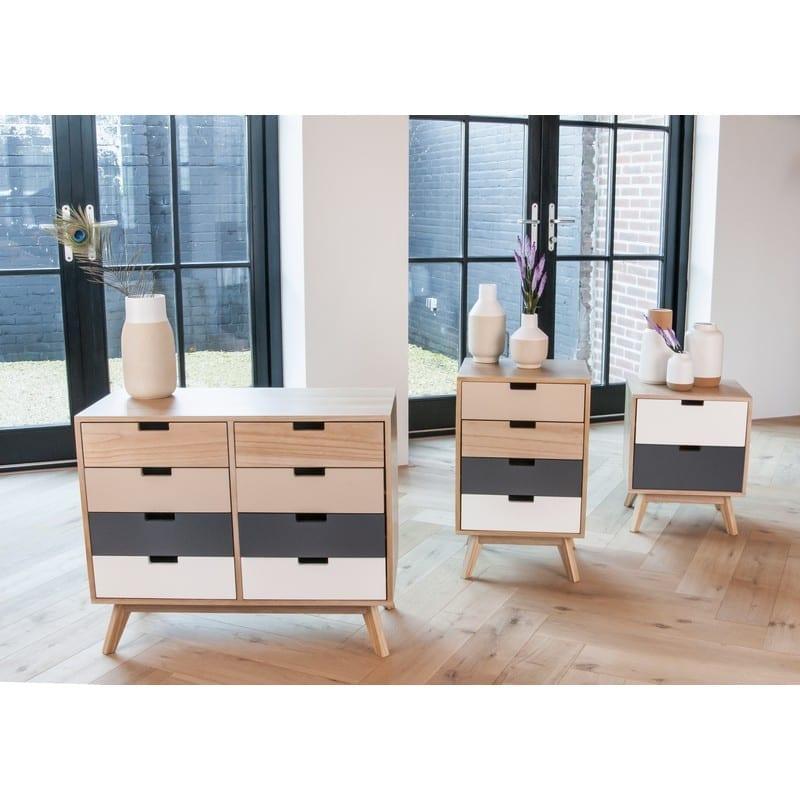 Meuble scandinave 2 tiroirs en bois Snap – Leitmotiv