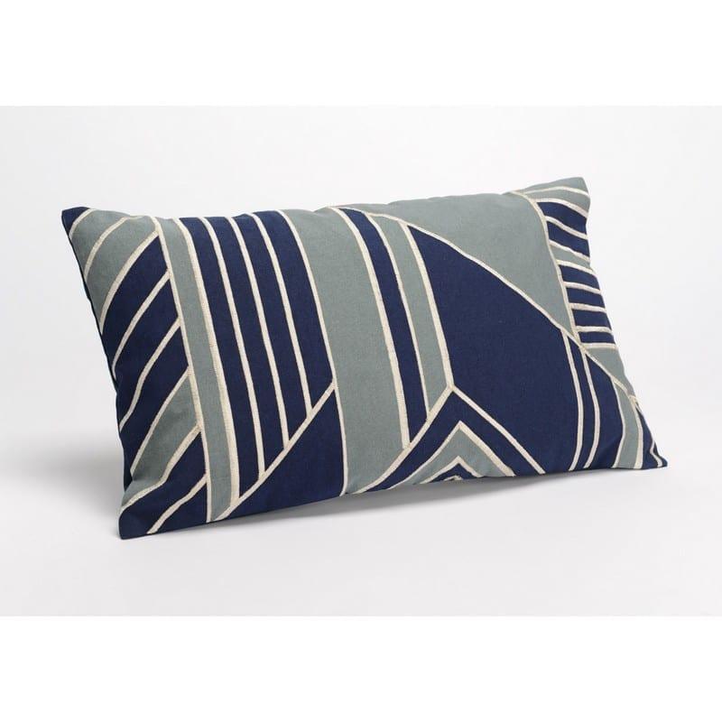 Coussin rectangulaire Graphik Home bleu et gris – Amadeus