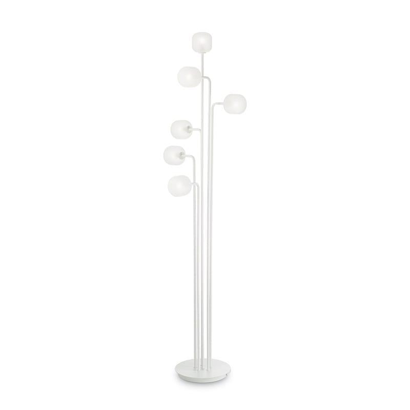 Lampadaire blanc verre sablé Mallow 6 lumières – Idéal lux