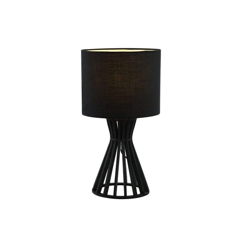 Lampe en bois Scandi noire avec abat-jour
