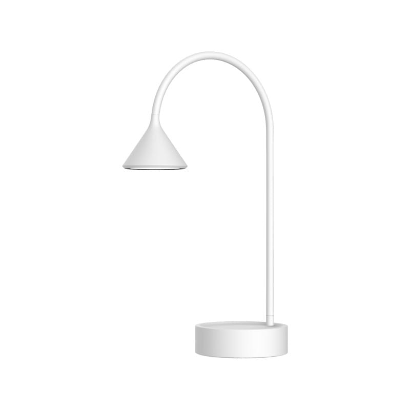 Lampe à poser blanche Noke flexible avec prise USB