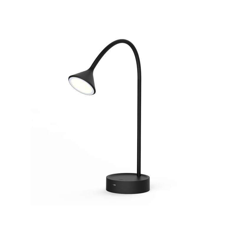 Lampe à poser noire Noke flexible avec prise USB