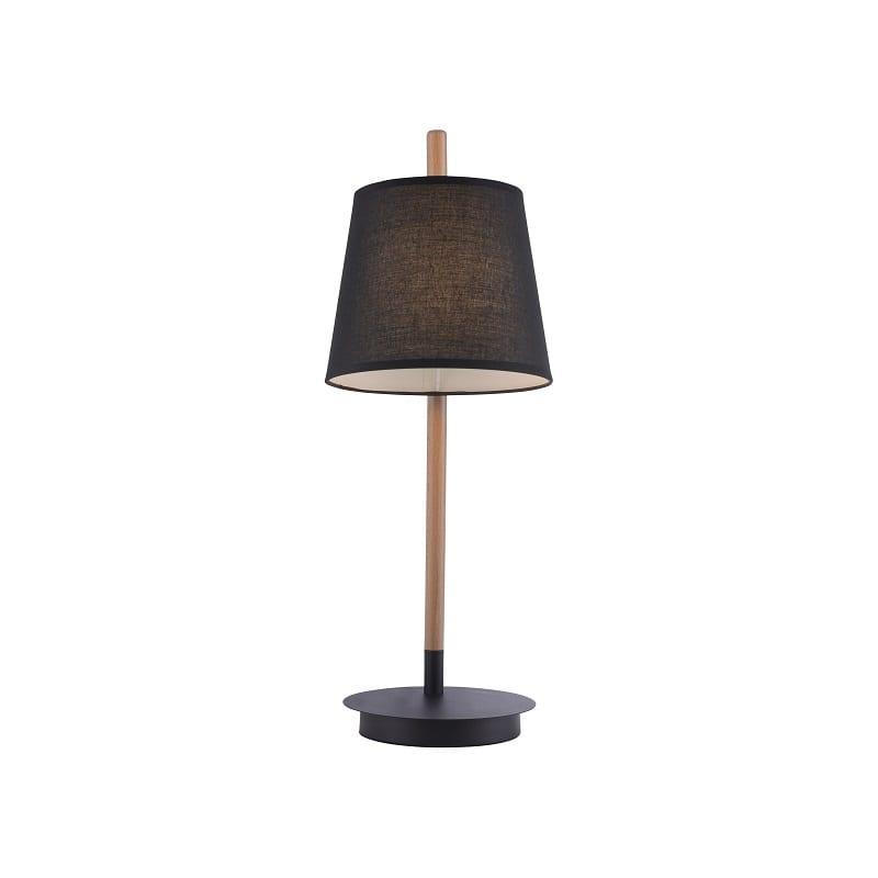 Lampe à poser Miriam bois et métal noir – Paul neuhaus