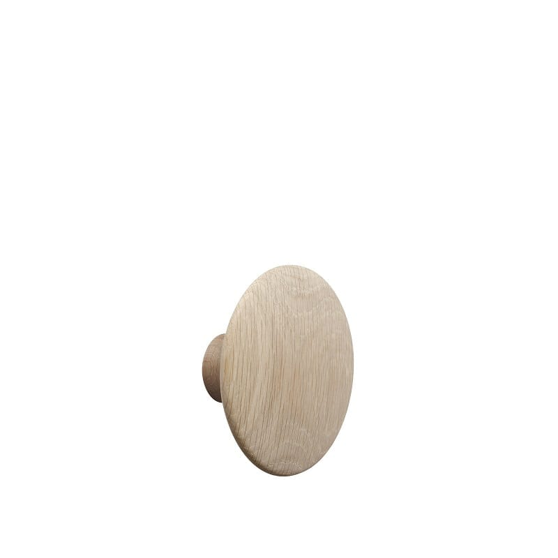 Patère murale en bois medium chêne The Dots Muuto