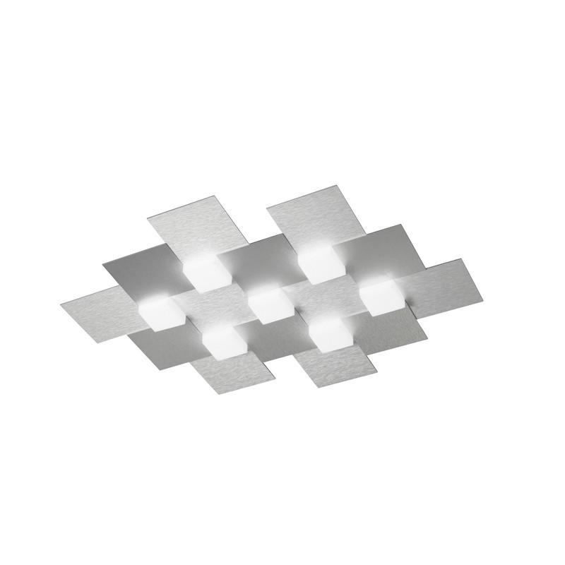Plafonnier Grossmann Créo 7 lumières aluminium brossé