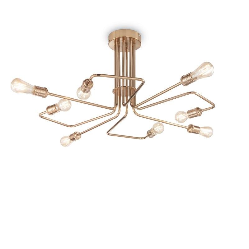 Plafonnier Triumph laiton vieilli 8 lumières – Idéal lux