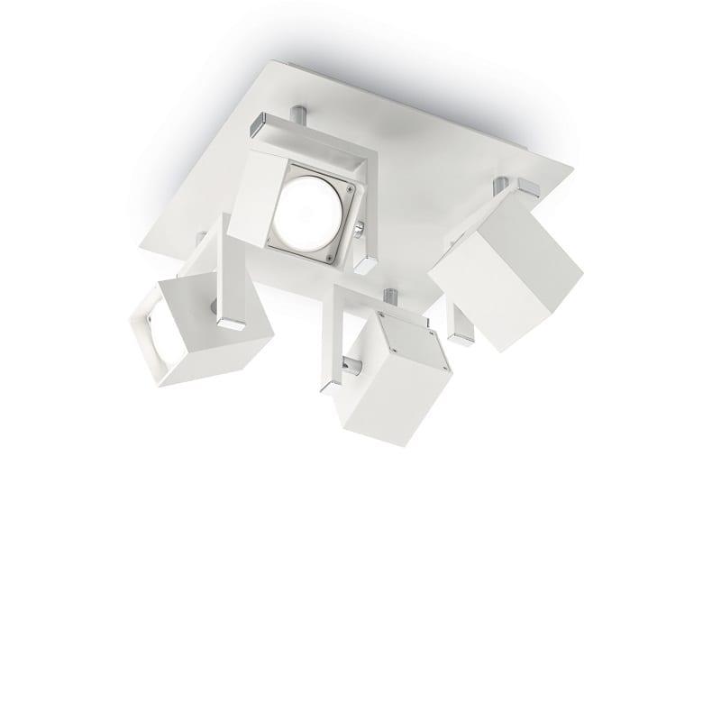 Plafonnier spot 4 lumières Mouse blanc
