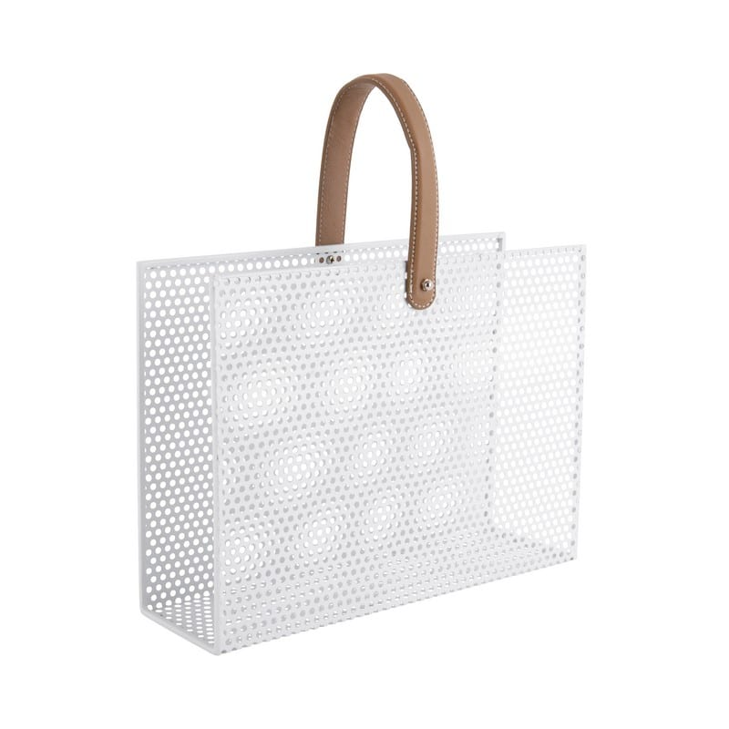 Porte-revues Perky mesh blanc – Present time