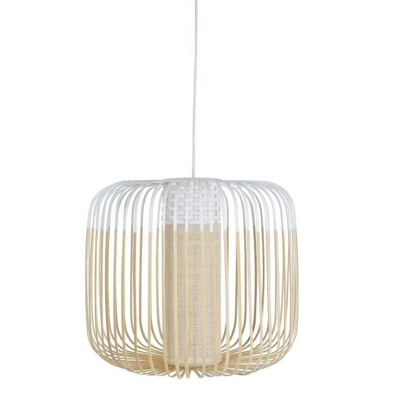Suspension Bamboo light medium blanche d.45 cm – Forestier