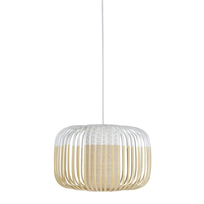 Suspension Bamboo light small blanche d.35 cm – Forestier