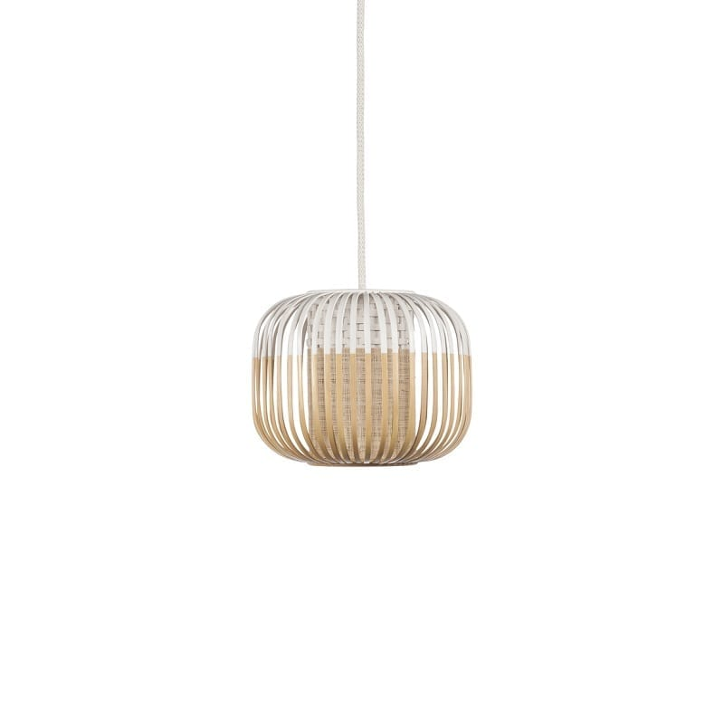 Suspension Bamboo light extra small blanche d.27 cm – Forestier