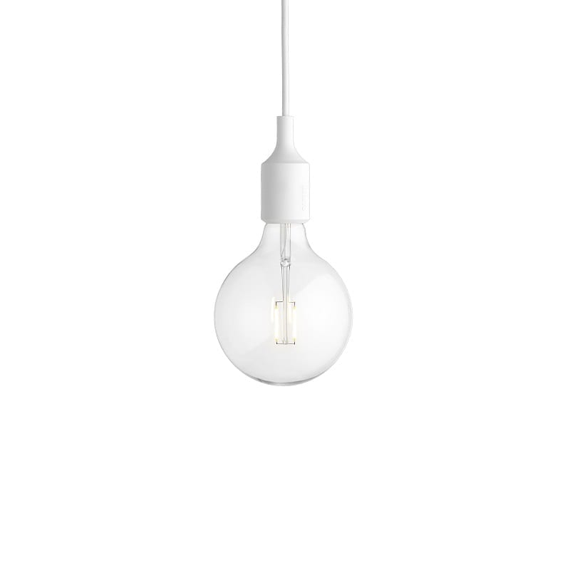 Suspension Muuto E27 led blanc
