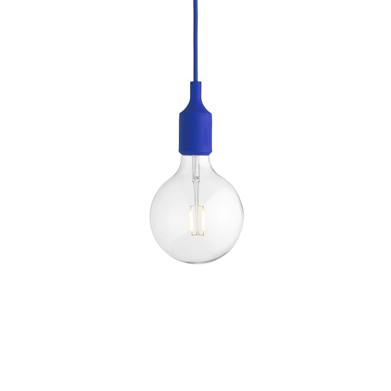 Suspension Muuto E27 led bleu