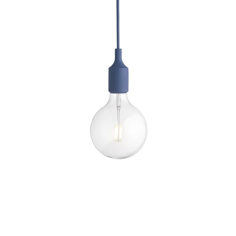 Suspension Muuto E27 led bleu pâle